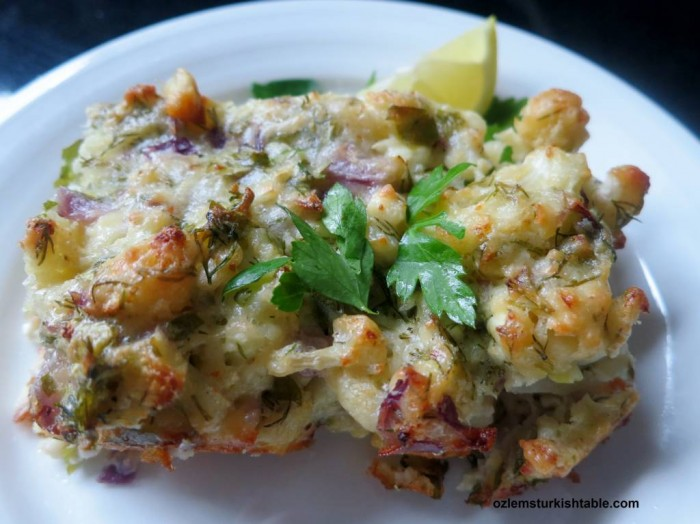 Baked cauliflower with feta and dill at our April 8th class