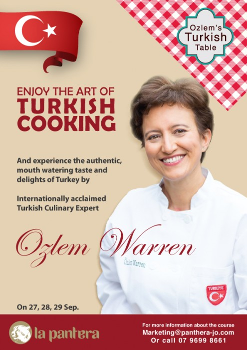 Our Turkish Cookery Course in Jordan, September 27- 29, 2016