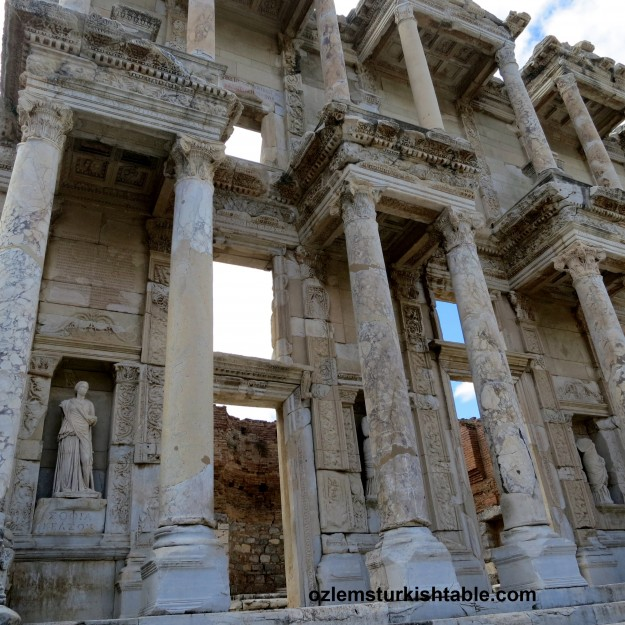 Up close at the Library of Celsus, Ephesus - Turkey