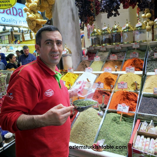 Pul biber - red pepper flakes-, cumin, dried mint, sumac and many more - Spice Market is a foodie's heaven
