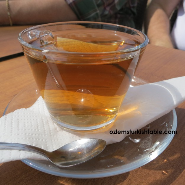 Apple tea, elma cayi - not traditinally a Turkish drink but still very pleasant