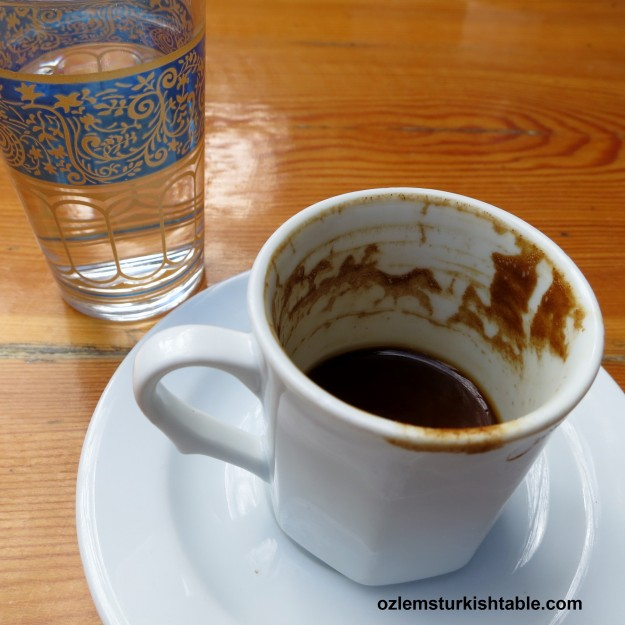 Reading the Turkish coffee cup; a childhood past time