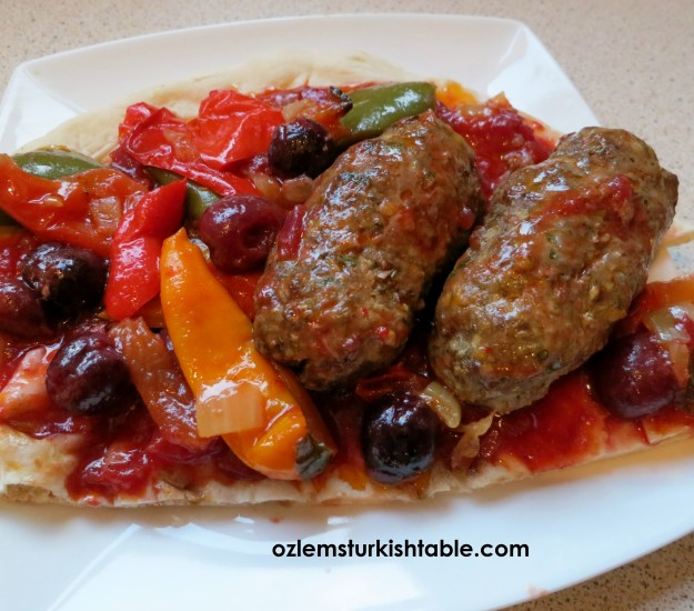 Pistachio lamb kebabs in cherry & tomato sauce; delicious treats for all