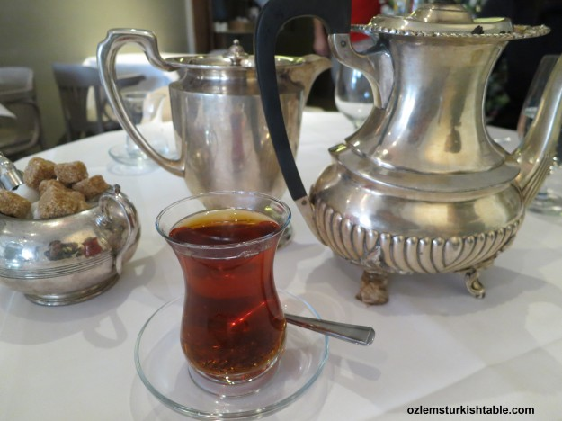 A very memorable Turkish tea, cay, I recently enjoyed at the Sofra Restaurant, Covent Garden - London