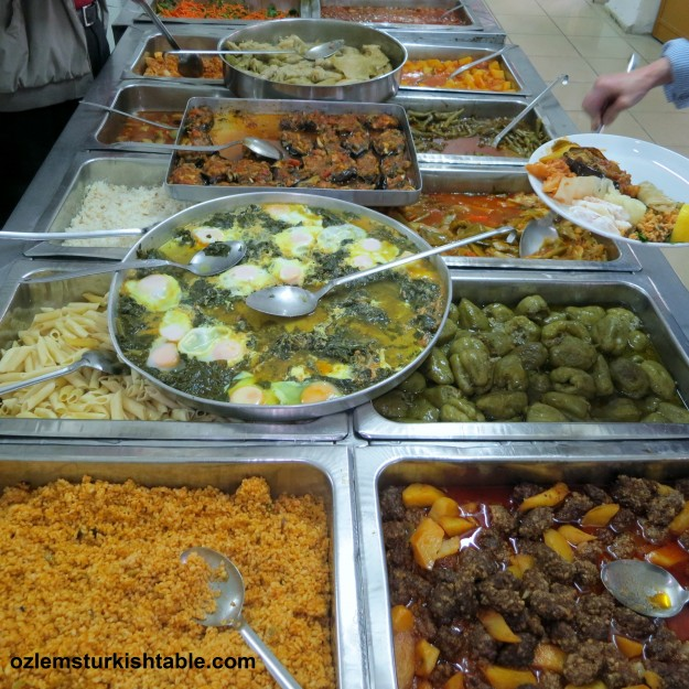 Scrumptious array of home cooked stews, stuffed vegetables, dolmas, koftes and more at traditional lokantas in Turkey