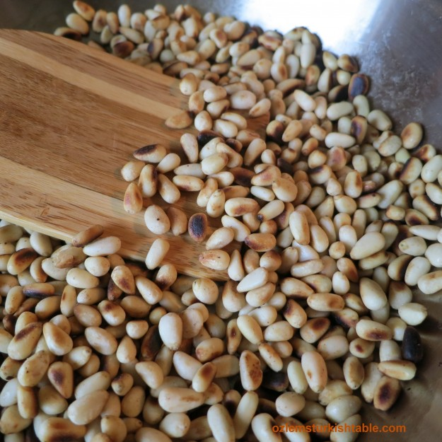 Sauteed pine nuts add a lovely texture and taste to the halva.