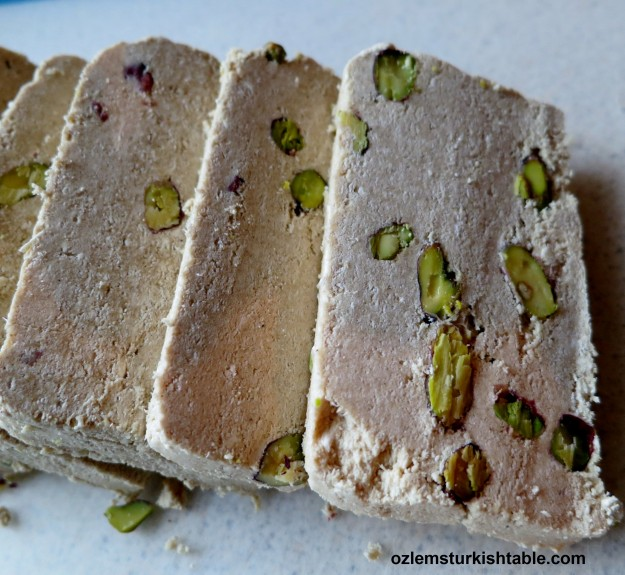 Sweet and flaky tahini &and honey based halva or helva, a real treat