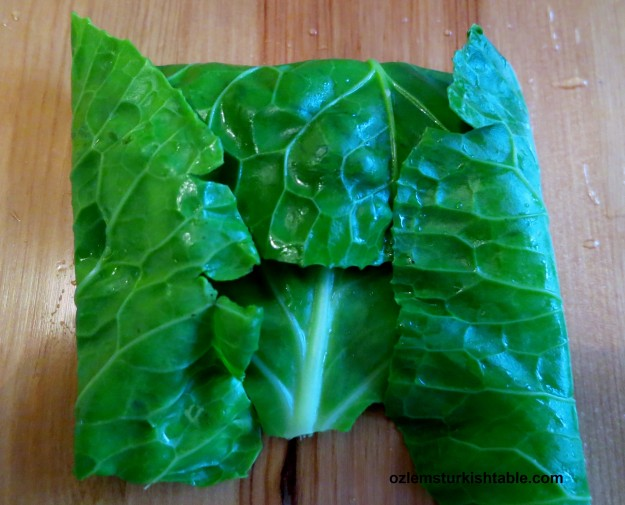 fold in the sides of the leaf