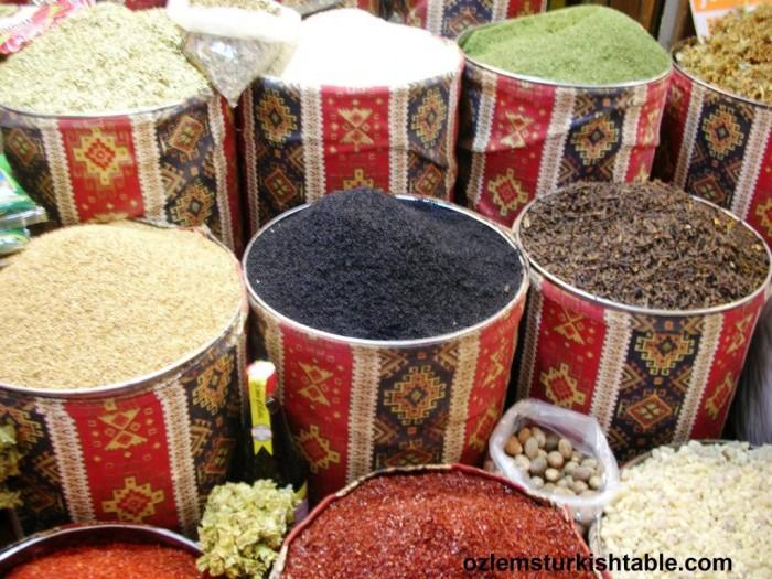 Spices galore; at Antakya's historic Long Market, Uzun Carsi