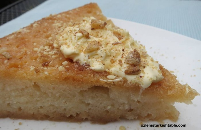 Delicious Ekmak Kadayifi; Turkish bread pudding in syrup; delicious with kaymak or clotted cream.