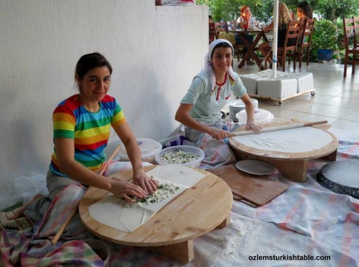 Sevgi Baci's delicious gozlemes, Turgutreis - Bodrum