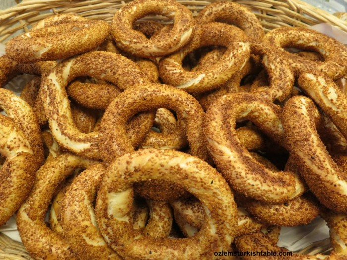 Simit, Turkish sesame coated bread rings; a warm welcome home