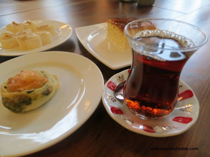 Cay, boreks, pastries and home made Turkish Delights at Sahi Istanbul