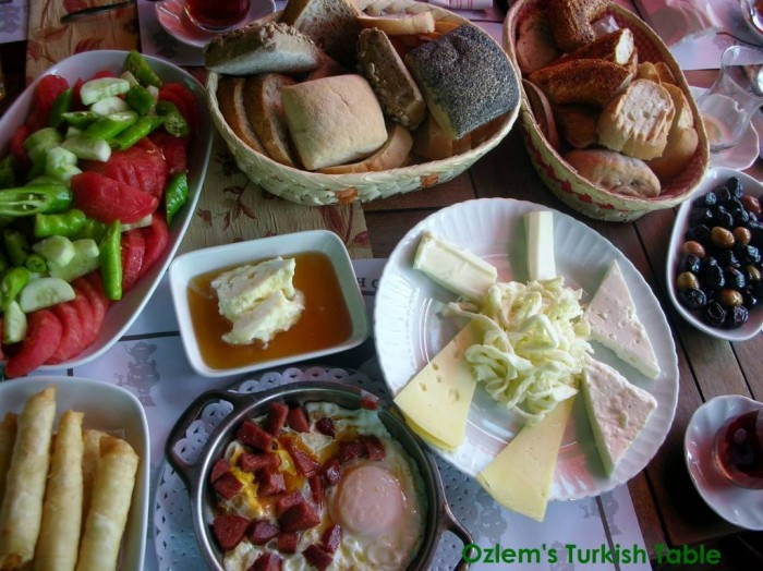 Turkish Breakfast, delicious, healthy; a feast to all senses