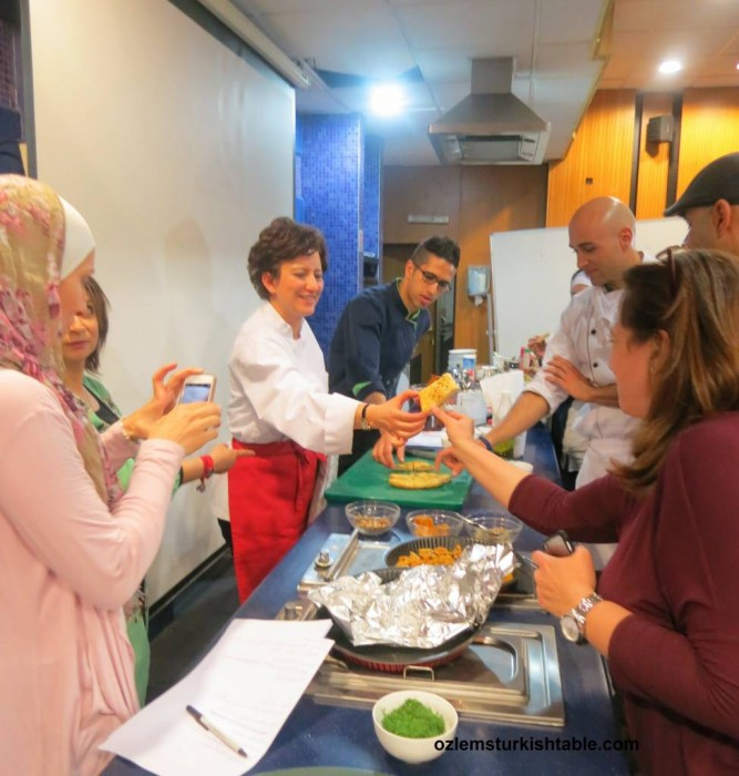 Making and sharing Pide, Turkish flat breads, a special highlight from our Turkish cookery course in Jordan