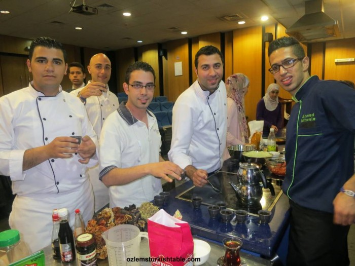 Talented young chefs in JAU attending my Turkish cookery course