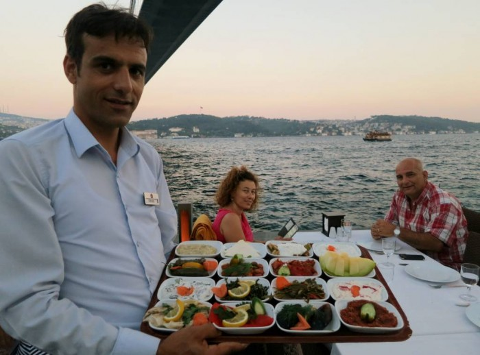 Delicious mezzes and company by the Bosphorus, Istanbul