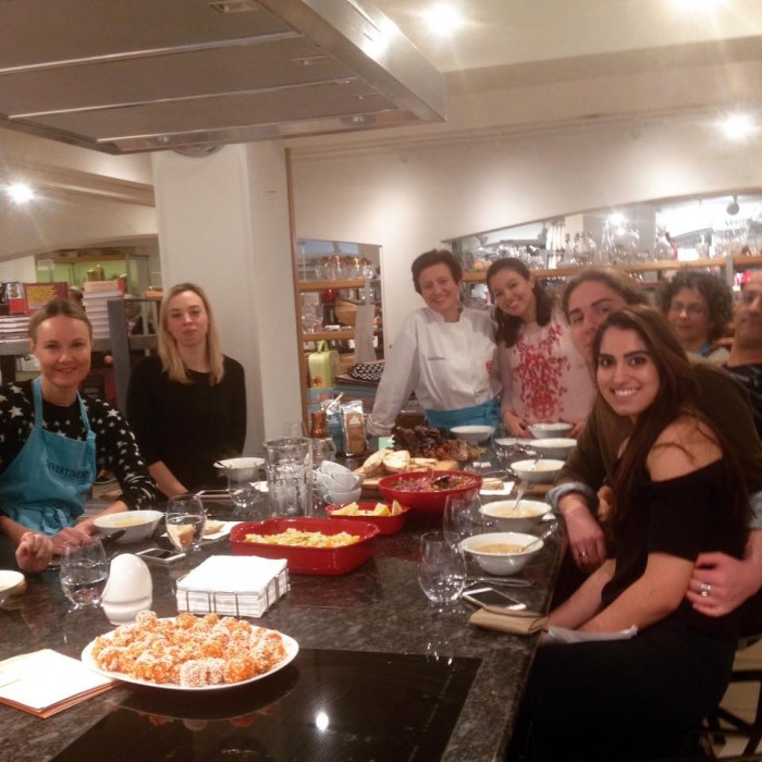 Wonderful participants of my Jan. 29th Turkish Cookery Class at Divertimenti Cookery School, London.