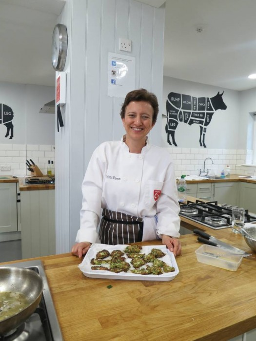 Zucchini fritters, Mucver ready to be enjoyed, at our Turkish cookery class