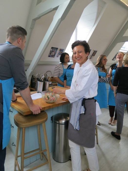 Teaching at the Cactus Kitchens - Michel Roux Jr Cookery School