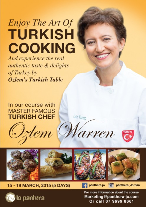 My Turkish Cookery Course in Amman, Jordan in March 2015