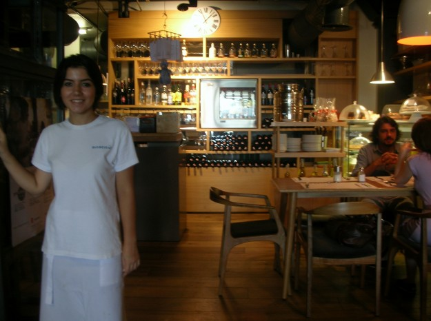 Istanbul Culinary's cafe and our friendly host