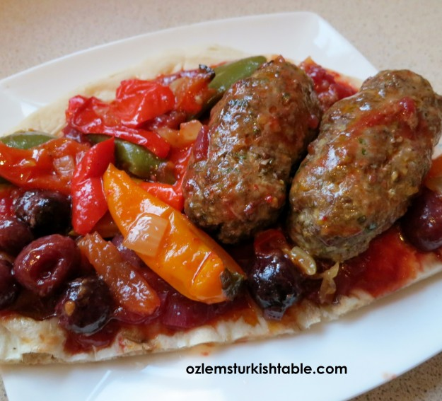 Lamb kebabs with pistachios in cherry & tomato sauce - Fistikli, visne soslu kebap