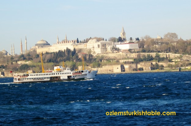 On the ferry to the Princes' Islands - over looking the Topkapi Palace, Istanbul