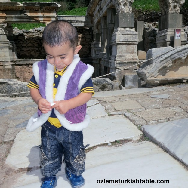 Children love exploring Ephesus too!