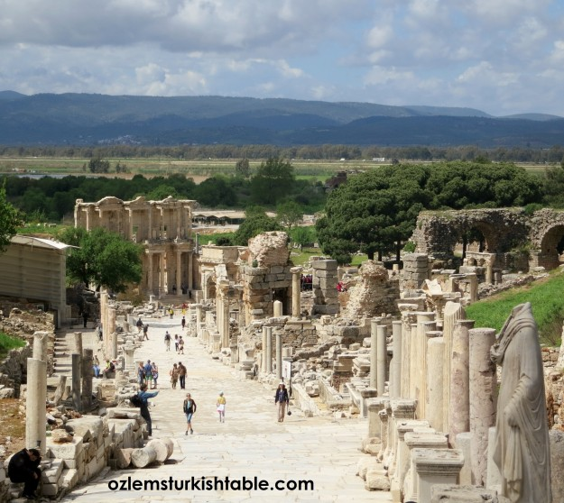 "The Curete Street, ""The citizens of the city"" - the main street of the Ephesus, Turkey."