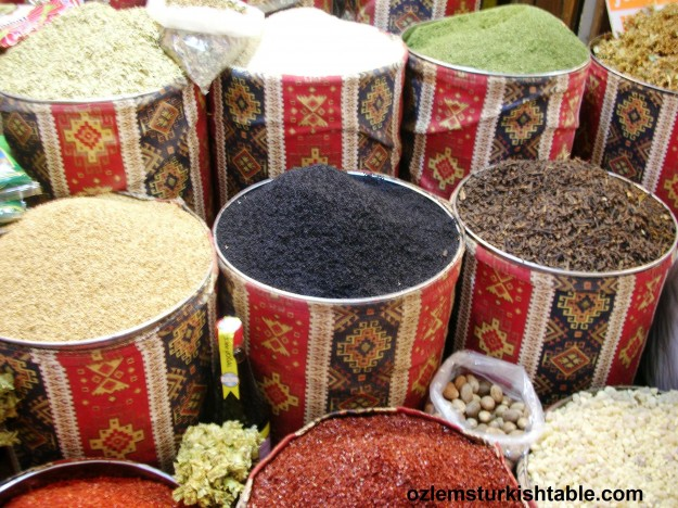 Spices galore at Uzun Carsi, Long Market - Antakya