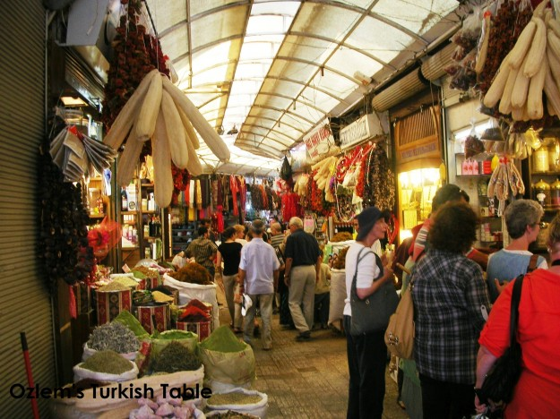 Antakya's 2,000 years old Long Market, Uzun Carsi; home to aromatic spices, copperware and endless food stalls.