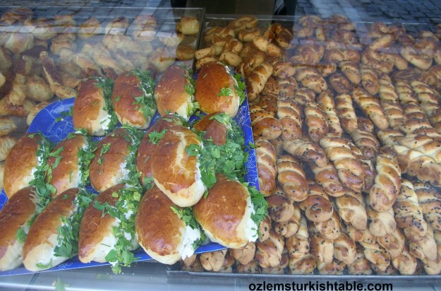 Delicious pogacas and pastries; a favorite Turkish breakfast or tea time treat