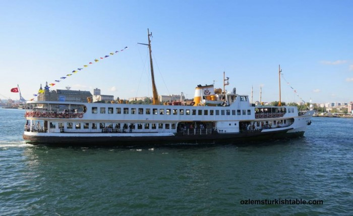 The traditional ferries, vapur, is an ideal way to cross the Bosphorus
