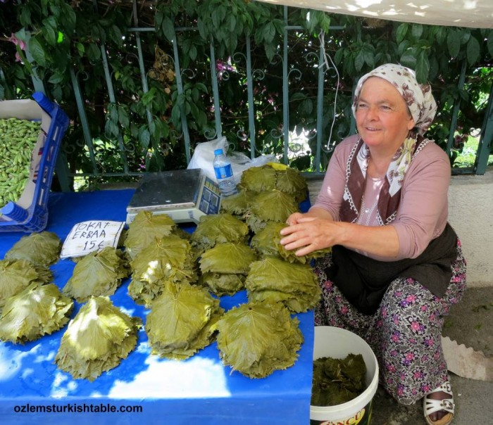 Vine leaves, sold at Burgazada, ready for stuffing