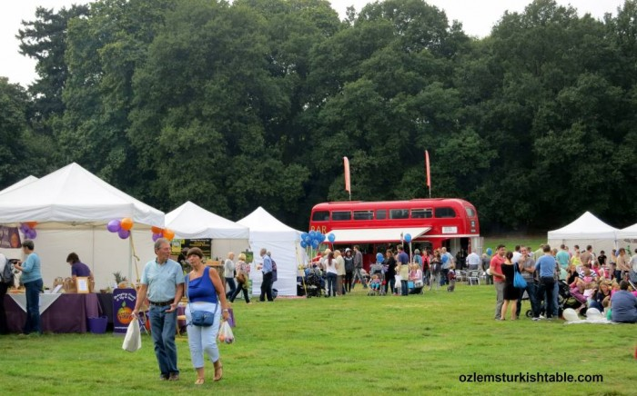 Elmbridge Food Festival at Painshill Park, Surrey - England