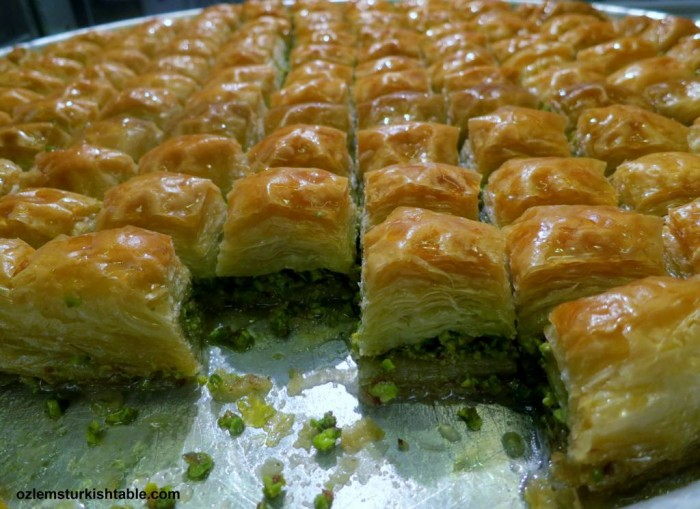 Irresistable baklava, the real thing from Gaziantep