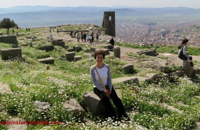 Beautiful Pergamum, Bergama - Turkey, with spring blossoms - Turkey