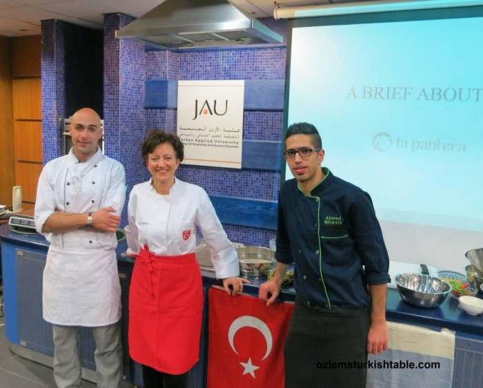 My Turkish cookery course at the JA University, Amman - Jordan