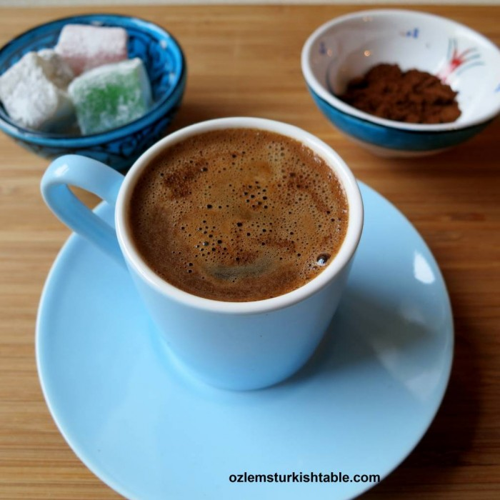 Deliciously frothy Turkish Coffee; more than a drink