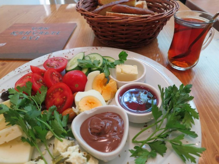 Wholesome, delicious Turkish breakfast, my favorite meal of the day