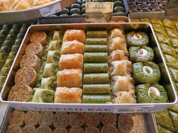 A heavenly tray of Baklava in Istanbul