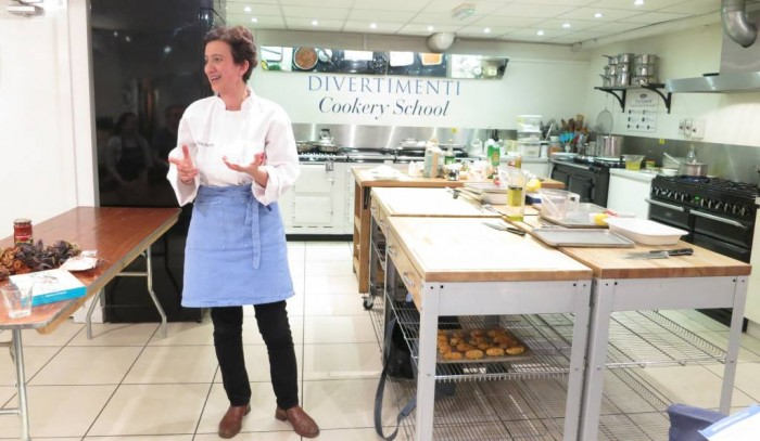 Talking about Turkish culinary heritage at Divertimenti Cookery School, London