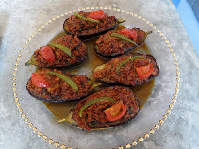 Karniyarik, Stuffed Aubergines were a big hit as always!