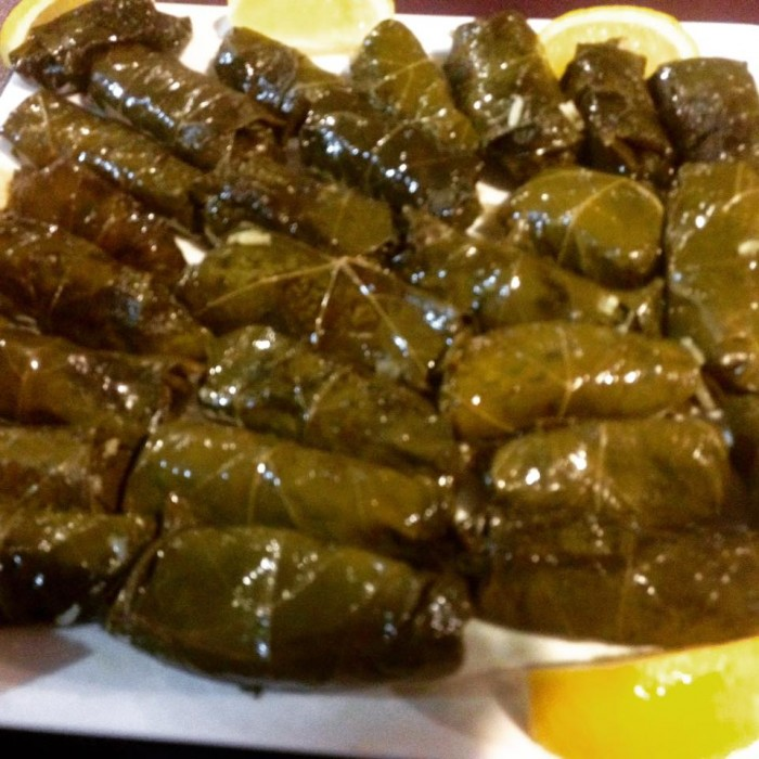 Zeytinyagli Sarma, Stuffed vine leaves with aromatic rice from our class, big hit
