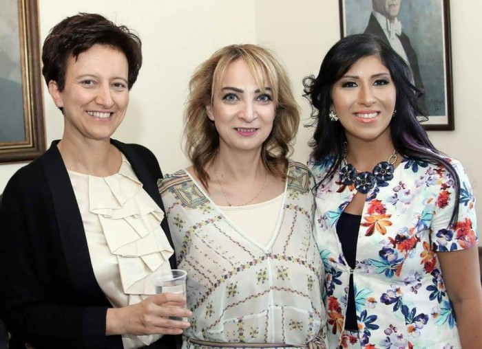 With dear Suhair Kilani and Manar Bilbesi at the Turkish Jordanian Friendship Association