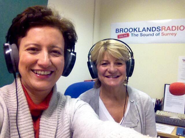 At Brooklands Radio, with Jill Bennett, talking about healthy Turkish Cuisine.