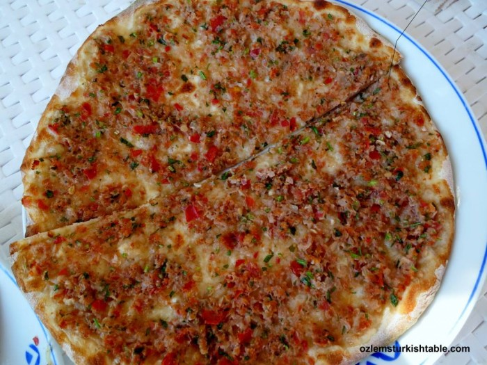 Lahmacun, popular Turkish thin pizza with ground meat and vegetables topping, will be at our Jan. 29th class